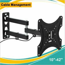 TV LCD LED Monitor Wall Mount Bracket Tilt Swivel for 10-42'' TCL Sharp Samsung