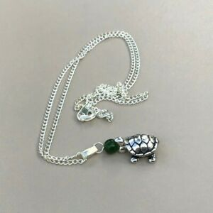 Green Jade Turtle Pendant - Made in Ireland