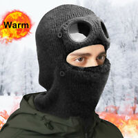 Men Women Winter Beanie Face Mask Warm Hat Ear Neck Cover Snow Cap with Goggle
