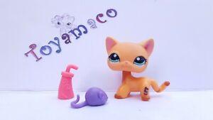 Original LPS Littlest Pet Shop Cat Shorthair #1643    -Free Shipping-