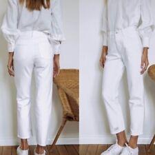 J Brand Wynne White Destruct High-Rise Crop Straight Leg Women's NWT Sz 27 $248.