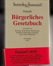 Bürgerliches Gesetzbuch Palandt Kurz-Kommentar C.H.Beck 69.Aufl.2010  neuwertig