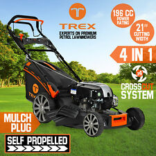 "TREX Lawn Mower Briggs & Stratton Powered Self Propelled 21"" Lawnmower 4 Stroke"
