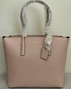 NWT Kate Spade Margaux Large Tote Leather Bag $298 Pale Vellum PXRUA226 ORIGINAL
