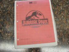 Jurassic Park (Copy) Pinball Machine Service Manual, Atlanta (730)