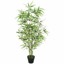 Bambù Pianta Albero Artificiale Plastica con Legno Naturale 120cm Decovego