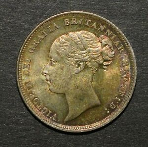 VICTORIA 1887 SIXPENCE, YOUNG HEAD