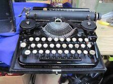 UNDERWOOD STANDARD PORTABLE 3 BANK TYPEWRITER 1922 VINTAGE ANTIQUE BLACK W CASE