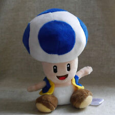 "Stuffed Animal  Super Mario Bros. Plush doll Blue TOAD 6""  LOVLY GIFT"