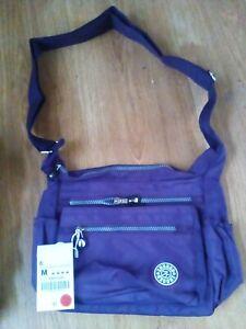 Ladies Girls Purple Messenger Bag New !Medium Size Handbag