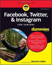 Facebook, Twitter & Instagram For Seniors For Dummies SIGNED by Marsha Collier
