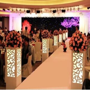 8pc. LED White Wedding Column Carved Pillar Decoration Flower Pillar Stand