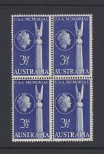 Australia USA Friendship1955 MNH SG283  Block of 4 USA Memorial Canberra