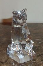 Hadeland The Danbury Mint Crystal Sitting Circus Bear Figurine