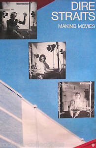 Dire Straits 1980 Making Movies Original Promo Poster