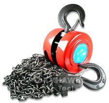 New 2 Ton Chain Hoist Puller Block Winch Steel Hardened Lift Capacity 4000 Lbs