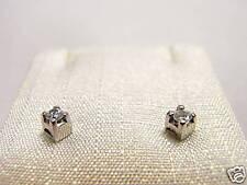 Orecchini 12 solitario Zirconia taglio brillante silver