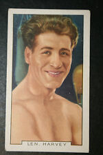 Len Harvey  British  Middle, L Heavy & Heavyweight Boxer   1930's Vintage Card