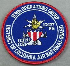 US Air Force 113th Operations Group 121st Fighter Squadron D.C. ANG