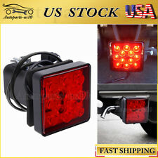 "Fits 2"" inch LED Trailer Tow Hitch Cover Light Red Receiver Driving Brake Light"