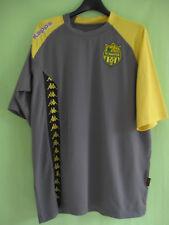 Maillot Fc Nantes Kappa Entrainement vintage Gris jaune Jersey - L
