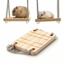 Hamster Swing Funny Wooden Hanging Toy Small Animals Parrots Harness Rest Mat