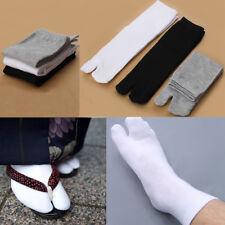 3 Pairs Kimono Flip Flop Sandal Split Toe Tabi Ninja Socks Japanese US Warehouse