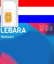 Lebara NETHERLANDS, NL, Prepaid sim card. For Holland. No Registration reqd.