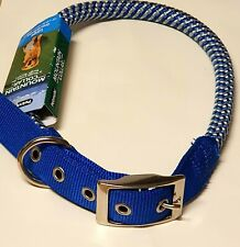 NYLON ROLLED ROPE DOG COLLAR TRAINING STRONG LARGE ROPE DOG COLLAR