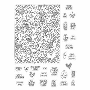 """Hero Arts """"All My Heart Peek-A-Boo Parts"""" Poly Clear Stamps 6"""" x 8"""" set 2020"""