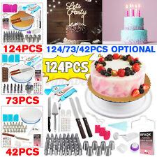 124pcs Cake Baking Decorating Kit Cupcake Pastry DIY Turntable Tool Supplies Set