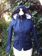Wasserabweisende Jacke mit abnehmbarer Kapuze von RIVER WOODS, Blau,Gr.S/10(140)