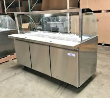 New 72 Cold Table Refrigerator Cooler Depot Scl72 Ice Cream Toppings Buffet Nsf