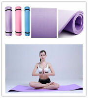 Yoga Mat 6mm Thick Exercise Fitness Physio Pilates Gym Mats Non Slip Carrier xB