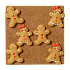 Gingerbread Kids Push Pins 6 pieces Stocking Party Bag Stuffers Gifts B175