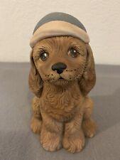 New listing Nostalgic 1987 Hand painted Ceramic Puppy Dog Statue