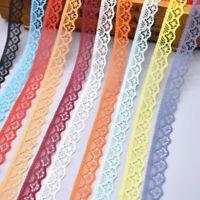 10 Yards Lace Ribbon 15mm Trim DIY Fabric Wedding Decorative Sewing Rope Hot
