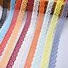 KQ_ 10 Yards Lace Ribbon 15mm Trim DIY Fabric Wedding Decorative Sewing Rope Hot