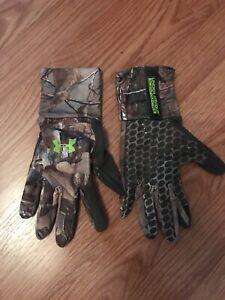 Under Armour Realtree Xtra Midseason Camo Hunting Gloves-XL