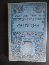 """Livre """"Mathurin Régnier - Oeuvres"""" La renaissance du livre"""