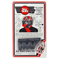 Bob Heath Vee Wipe Motorcycle Visor Effective Spray For Helmet - Medium - Black