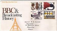 STAMPS. ROYAL MAIL FDC – BBC Broadcasting History – 13th Sept 1972