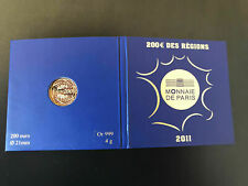 Pièce 200 euros or 2011 euros des régions NEUVE jamais ouverte