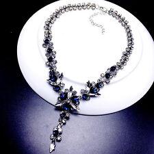 Shinning ice flower fringe short necklace UK