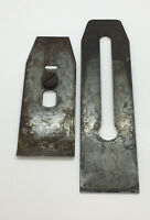 """Wood Plane Part: """"Red Diamond"""" Salvaged Iron Cutter And Chip Breaker AS SHOWN"""