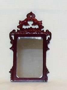 BESPAQ CARVED MIRROR VINTAGE  DOLLHOUSE FURNITURE MINIATURES