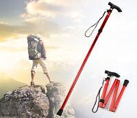 Retractable Aluminum Stick Hiking Walking Travel Folding Handle Cane Adjustable