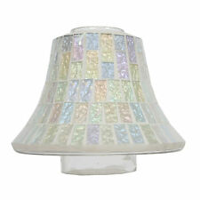 Ice White Lustre Mosaic Candle Jar Lamp Shade G23687
