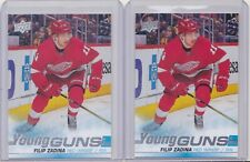19-20 Upper Deck Filip Zadina Young Guns Rookie Lot Of 2 Red Wings 2019