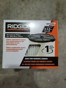 RIDGID 1-Layer Everyday Dirt Pleated Paper Filter for 3.0 to 4.5 Gal. Wet Dry...